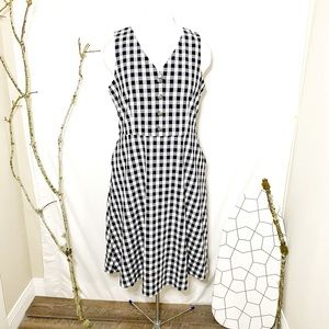 NWT Ann Taylor Factory Gingham Check Dress Size 12